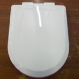 Light D Shape Toilet Seat White Top Fix Soft Close - 02002029